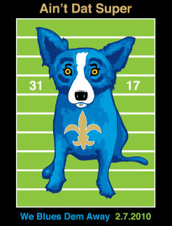 We Blues Them Away 2010 Limited Edition Print - Blue Dog George Rodrigue