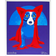 Hiding From the Moon 1995 Limited Edition Print by Blue Dog George Rodrigue - 1