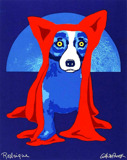 Hiding From the Moon 1995 Limited Edition Print by Blue Dog George Rodrigue