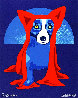 Hiding From the Moon 1995 Limited Edition Print by Blue Dog George Rodrigue - 0