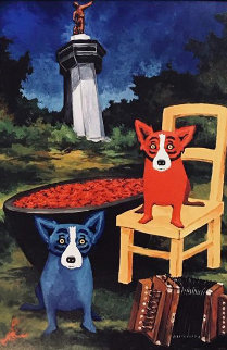 Boiling My Blues Away Poster 1998  Limited Edition Print - Blue Dog George Rodrigue