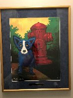 Taking Care of Business 2000 Limited Edition Print by Blue Dog George Rodrigue - 1