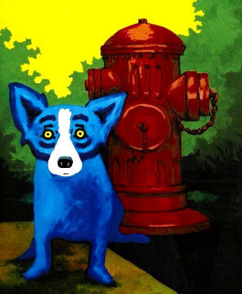 Taking Care of Business 2000 Limited Edition Print by Blue Dog George Rodrigue