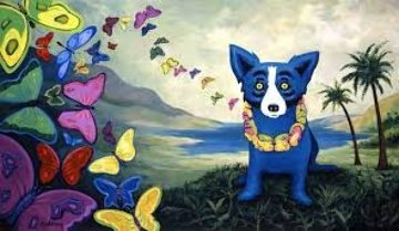 Hawaiian Blues 1998 Limited Edition Print by Blue Dog George Rodrigue