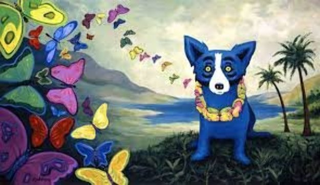 Hawaiian Blues Limited Edition Print by Blue Dog George Rodrigue