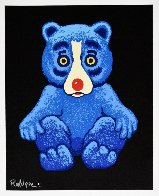 Boogie Bear- Black 1995 Limited Edition Print by Blue Dog George Rodrigue - 1
