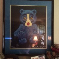 Boogie Bear- Black 1995 Limited Edition Print by Blue Dog George Rodrigue - 2