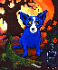 Blue Dog Absolut Vodka 1992 Limited Edition Print by Blue Dog George Rodrigue - 0
