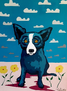 You Make My Landscape Happy 2000 Limited Edition Print - Blue Dog George Rodrigue