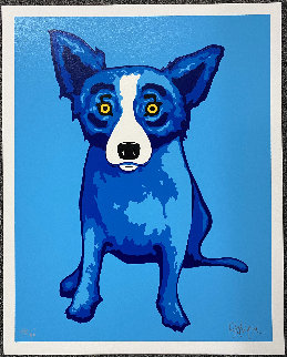 Blue Skies Shining on Me Limited Edition Print - Blue Dog George Rodrigue