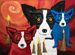 By the Light of the Journey 1997 Limited Edition Print - Blue Dog George Rodrigue