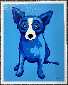 Blue Skies Shining on Me 2005 Limited Edition Print - Blue Dog George Rodrigue