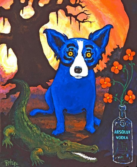 Absolute Blue Dog Limited Edition Print by Blue Dog George Rodrigue
