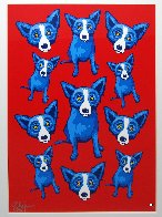 Group Therapy Red 1995 Limited Edition Print by Blue Dog George Rodrigue - 1