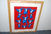 Group Therapy Red 1995 Limited Edition Print by Blue Dog George Rodrigue - 2