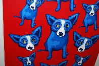 Group Therapy Red 1995 Limited Edition Print by Blue Dog George Rodrigue - 3