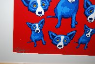 Group Therapy Red 1995 Limited Edition Print by Blue Dog George Rodrigue - 4