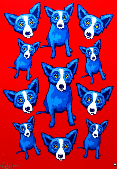 Group Therapy Red 1995 Limited Edition Print by Blue Dog George Rodrigue