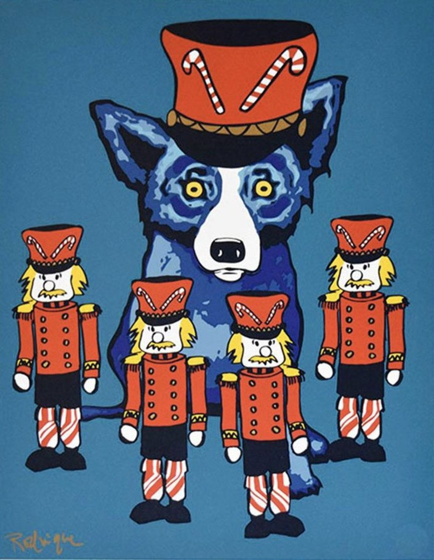 Soldier Boy 2000 Limited Edition Print by Blue Dog George Rodrigue