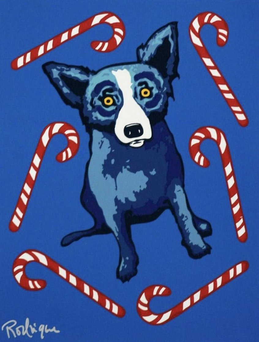 Sweet Like You 2000 Limited Edition Print by Blue Dog George Rodrigue