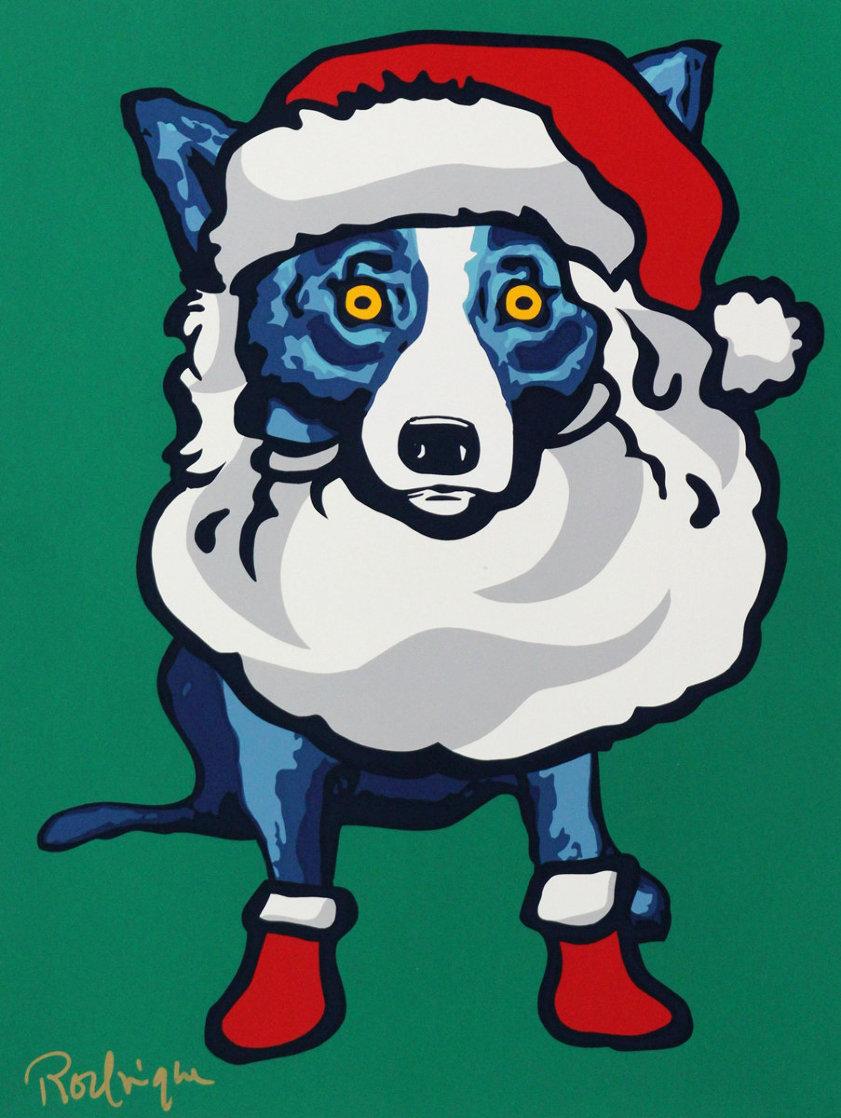 Ho Ho Ho 2000 Limited Edition Print by Blue Dog George Rodrigue