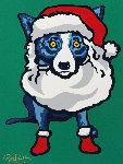 Ho Ho Ho 2000 Limited Edition Print - Blue Dog George Rodrigue