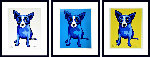 Purity of Soul / Blue Skies Shining on Me / Sunshine on My Shoulders 2005  Limited Edition Print - Blue Dog George Rodrigue