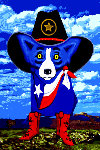 Big Texan Sky 2012 Limited Edition Print - Blue Dog George Rodrigue