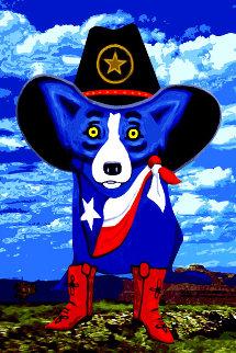 Big Texan Sky 2012 Limited Edition Print - Blue Dog George Rodrigue