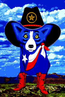 Big Texan Sky 2012 Limited Edition Print by Blue Dog George Rodrigue