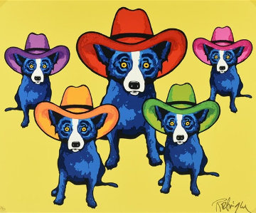 High Noon 2002 Limited Edition Print - Blue Dog George Rodrigue