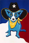 I Wanna Be a Texas Ranger 1998 Limited Edition Print - Blue Dog George Rodrigue