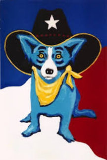 I Wanna Be a Texas Ranger 1998 Limited Edition Print by Blue Dog George Rodrigue