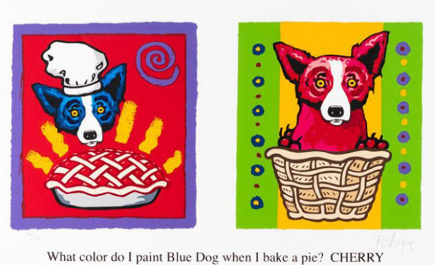 Color Me Cherry 2002 Limited Edition Print by Blue Dog George Rodrigue
