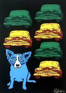 Junkyard Dog 1993 Limited Edition Print - Blue Dog George Rodrigue
