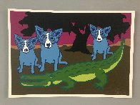 Later Gator 1992 Limited Edition Print by Blue Dog George Rodrigue - 1