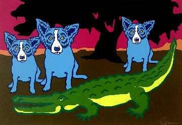 Later Gator 1992 Limited Edition Print - Blue Dog George Rodrigue