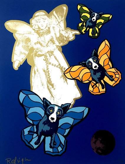 Angel Baby 2000 Limited Edition Print by Blue Dog George Rodrigue