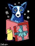 Midnight Surprise 2000 Limited Edition Print - Blue Dog George Rodrigue