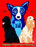 George's Sweet Inspirations 2000 Limited Edition Print - Blue Dog George Rodrigue