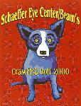 Schaffer Eye Center Beam's Crawfish Boil Poster , Birmingham, AL 2000 HS Limited Edition Print - Blue Dog George Rodrigue
