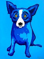 Blue Skies Shining on Me Limited Edition Print by Blue Dog George Rodrigue - 0