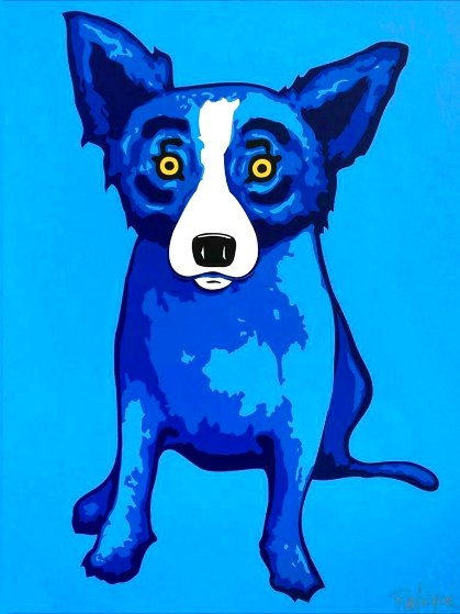 Blue Skies Shining on Me Limited Edition Print by Blue Dog George Rodrigue