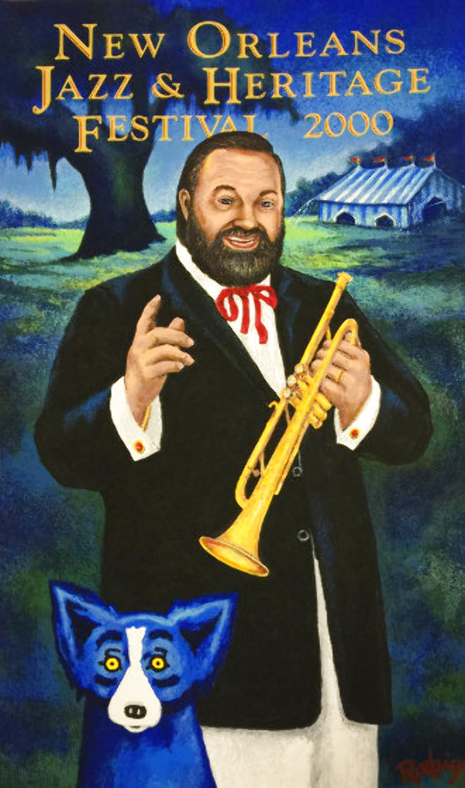 Al Hirt 2000 Poster Limited Edition Print by Blue Dog George Rodrigue