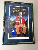 Pete Fountain Poster 1996 Limited Edition Print by Blue Dog George Rodrigue - 1