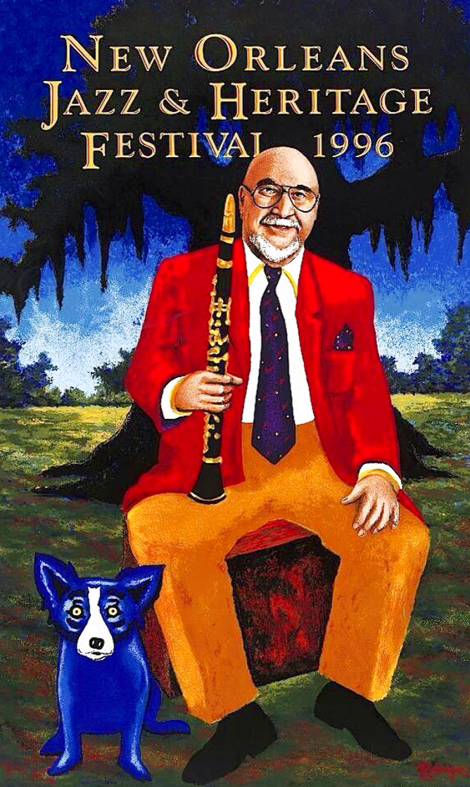Pete Fountain Poster 1996 Limited Edition Print by Blue Dog George Rodrigue