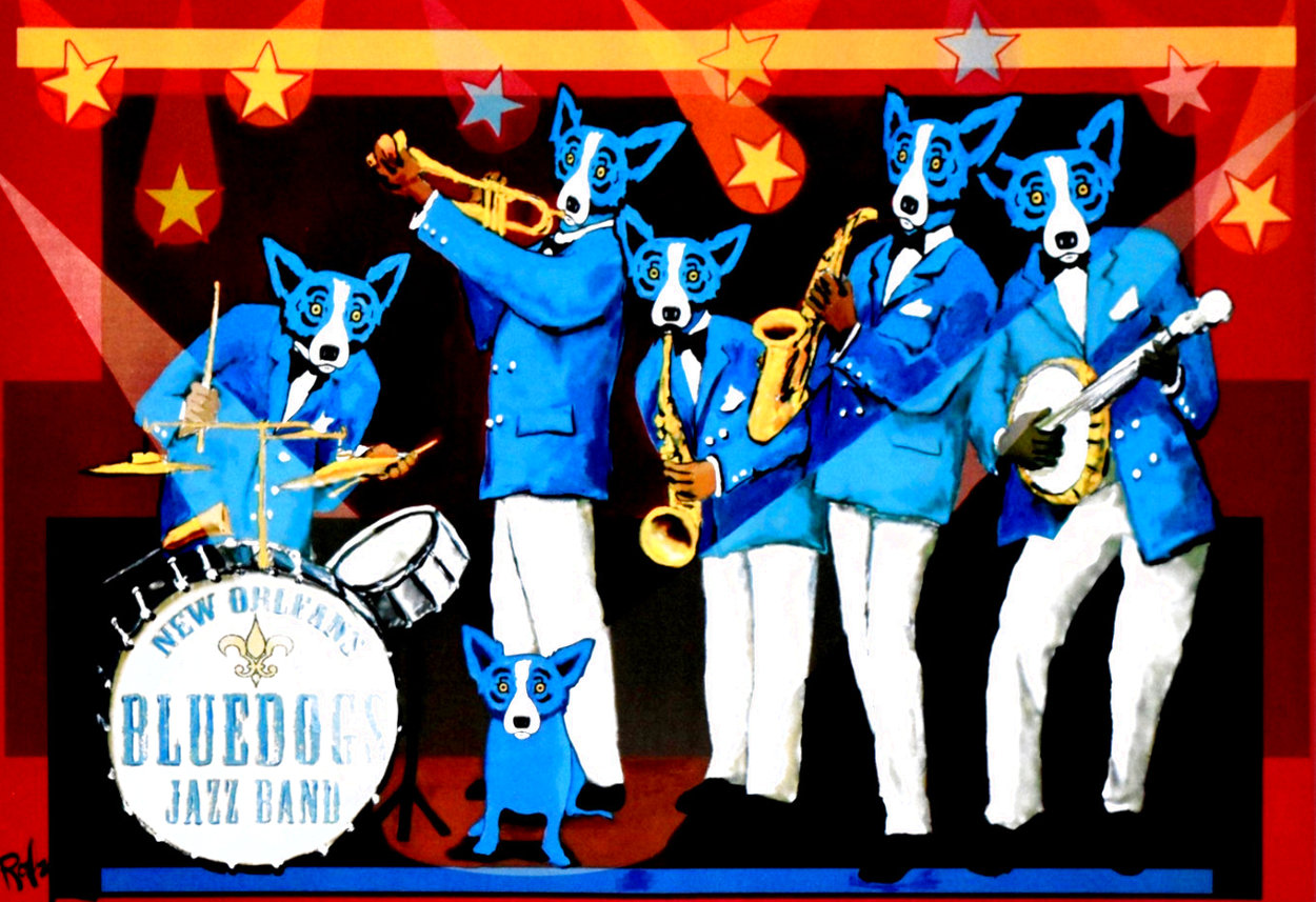 Can't Drown the Blues HS Limited Edition Print by Blue Dog George Rodrigue