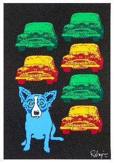 Junkyard Dog 1993 Limited Edition Print - Blue Dog George Rodrigue