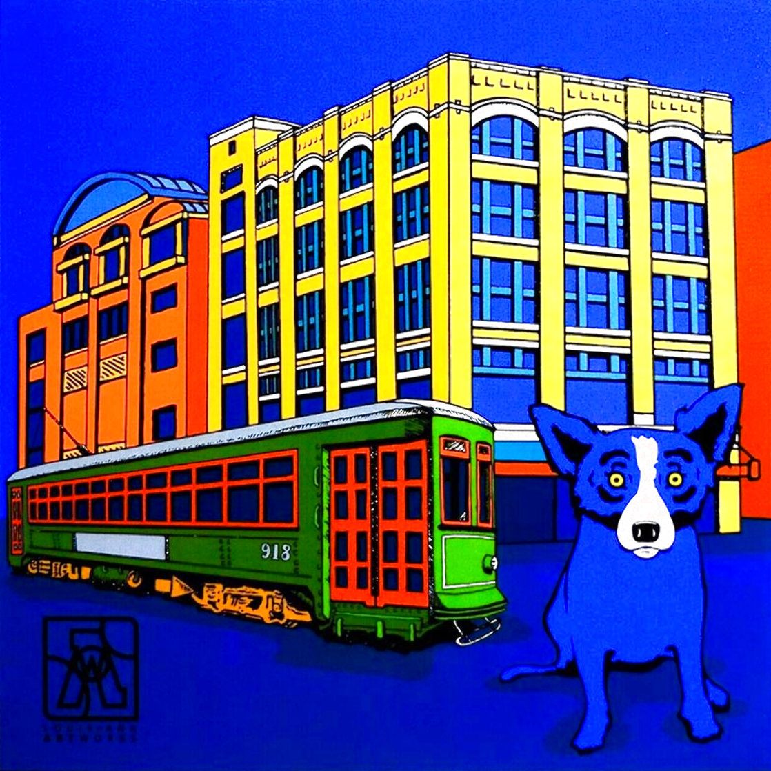 Louisiana Blue Dog 2003  (New Orleans) Limited Edition Print by Blue Dog George Rodrigue