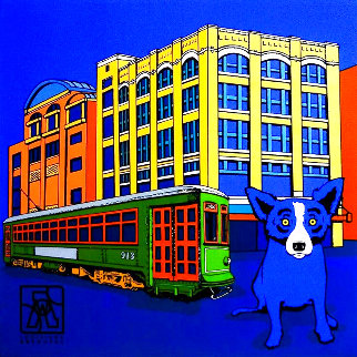 Louisiana Blue Dog 2003  (New Orleans) Limited Edition Print - Blue Dog George Rodrigue